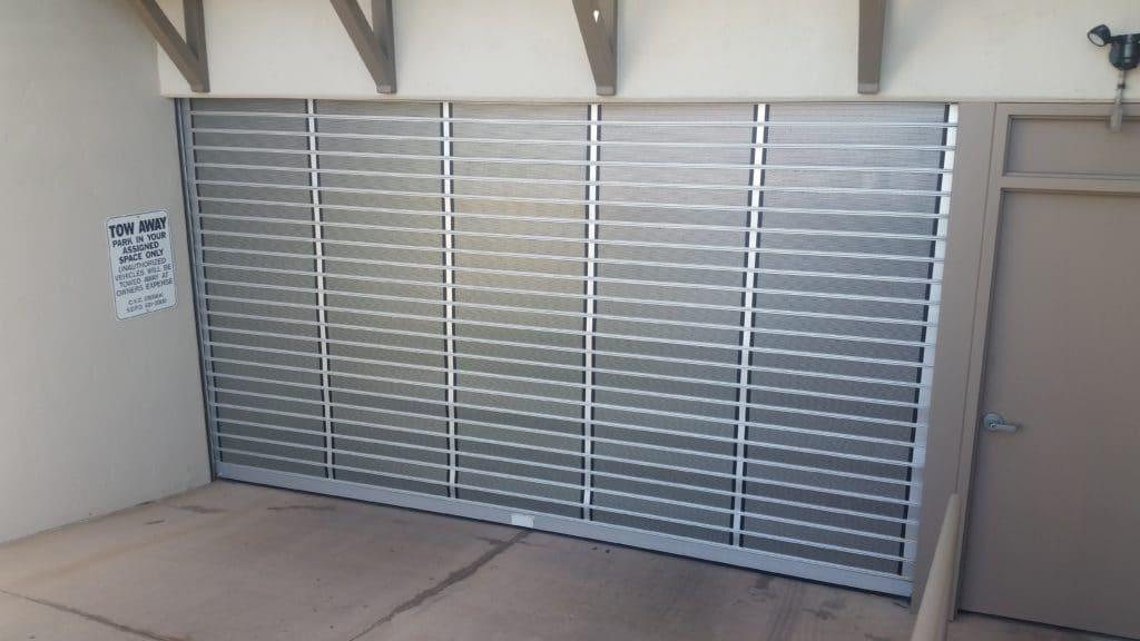Condo parking garage security gate