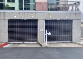 Parking garage security grille