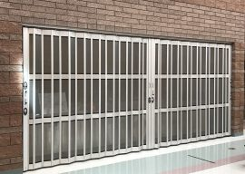Side folding security doors